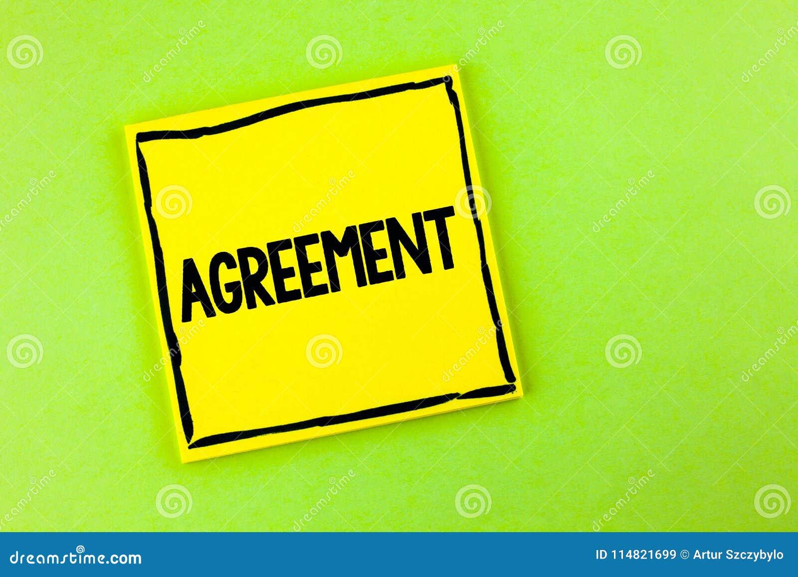Acuerdo del texto de la escritura El negocio del significado del concepto o los cierres personales hizo fácil con una mejor direc