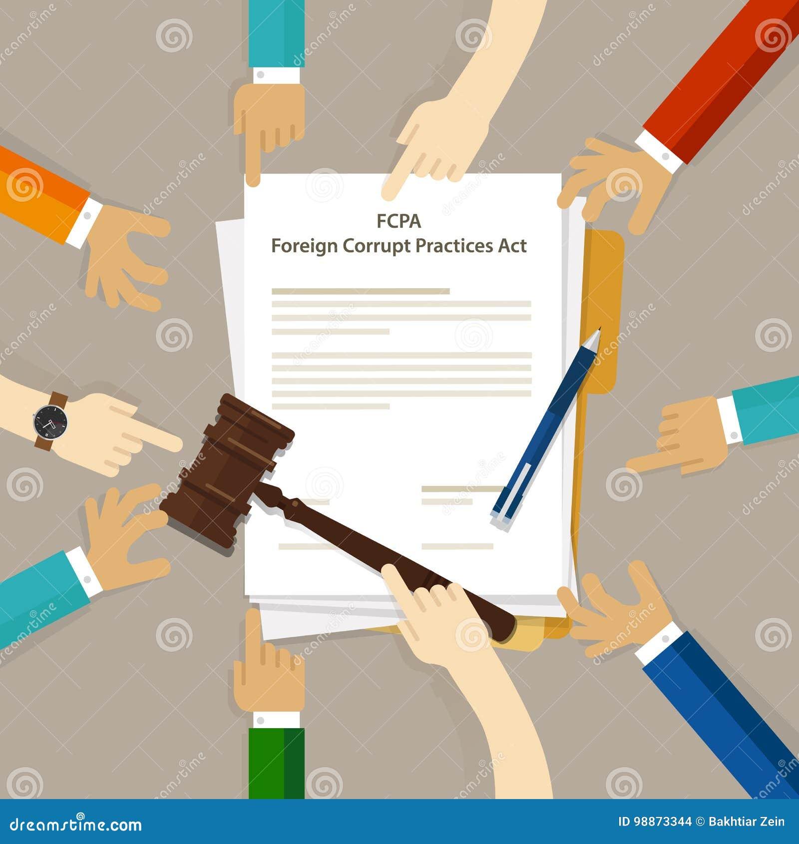Acuerdo judicial del conflicto de intereses de la aplicación de las prácticas corruptas de FCPA del acto de la ley del crimen de