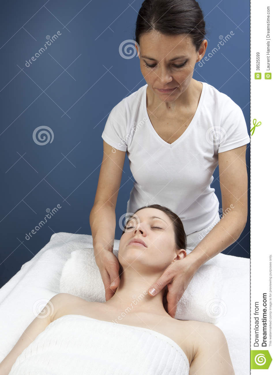 Acupressure Reflexology Ayurveda Massage Stock Image ...