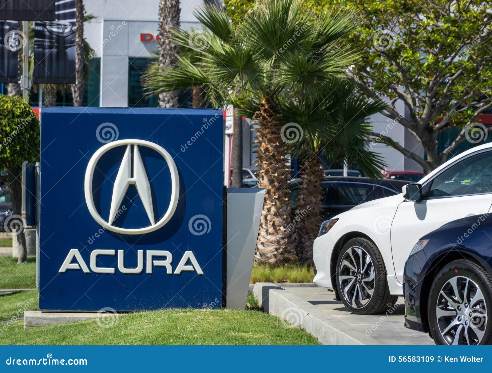 acura automobile dealership sign and logo editorial stock image image 56583109. Black Bedroom Furniture Sets. Home Design Ideas