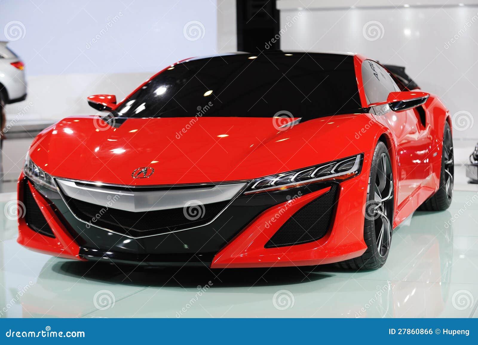 Acura czerwony Pojęcie NSX