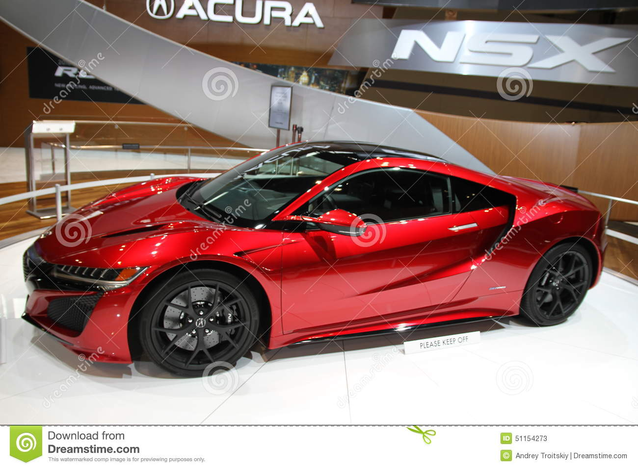 acura nsx supercar 2016 editorial stock photo. image of vehicle