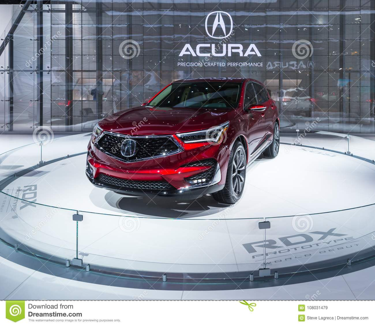 2019 Acura RDX, NAIAS Editorial Stock Image. Image Of Auto