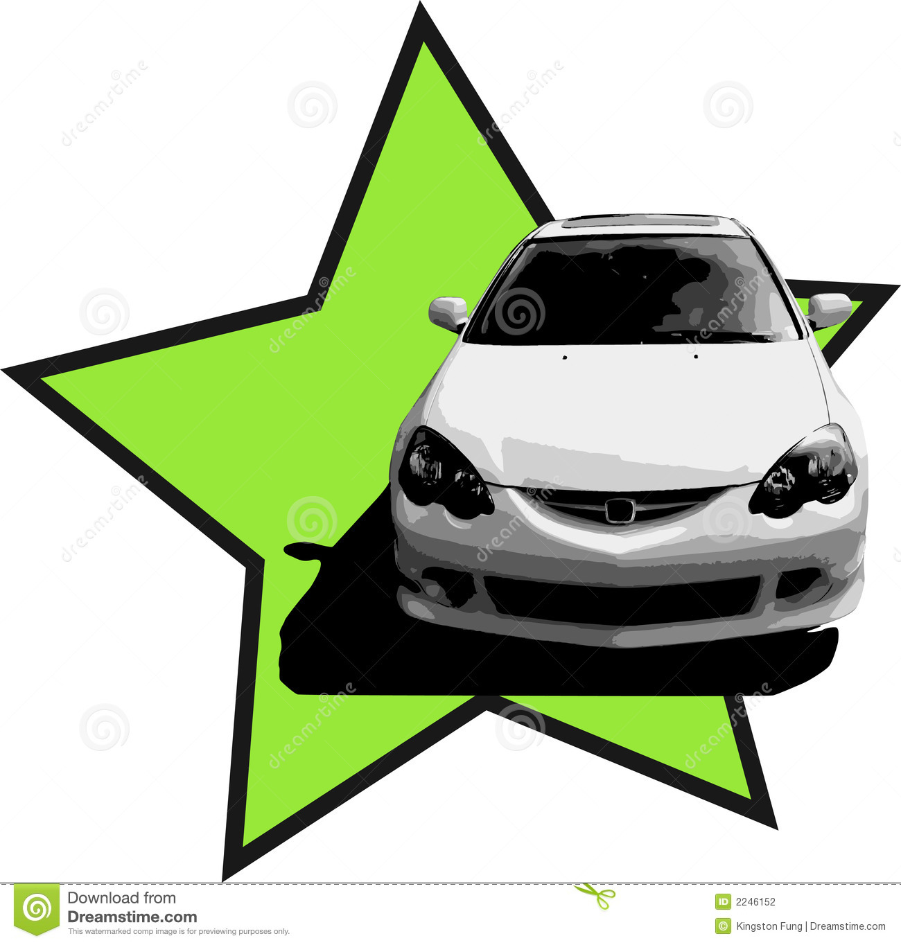 Acura RSX Illustration Stock Vector. Illustration Of White