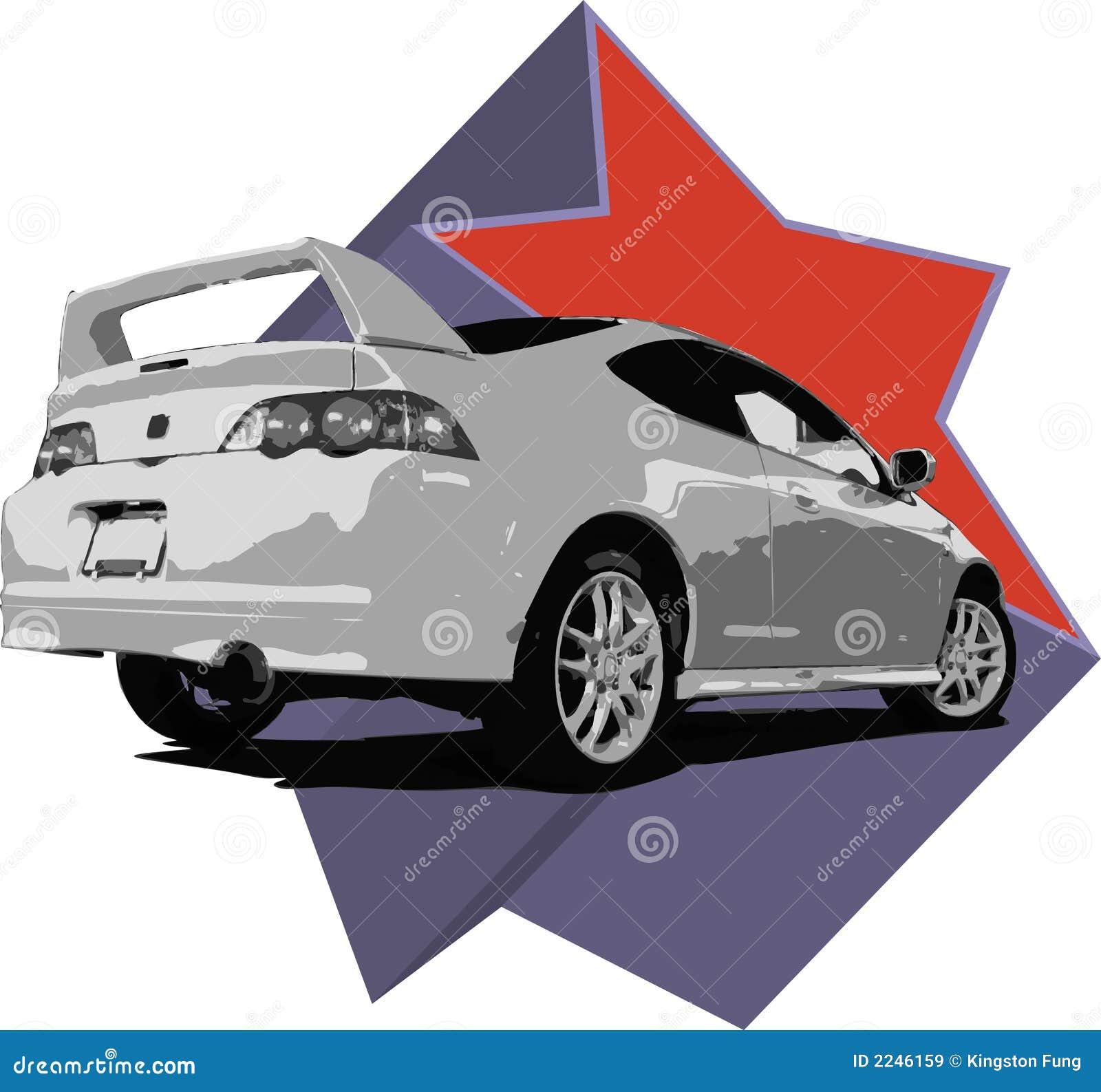 Acura RSX Illustration Stock Vector. Illustration Of