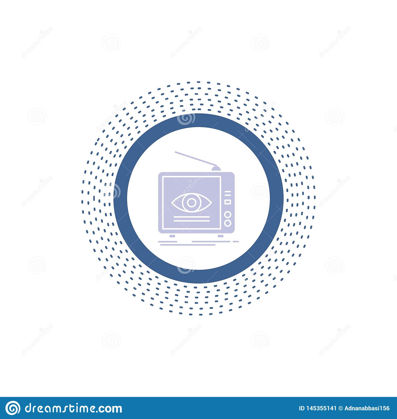 Ad, broadcast, marketing, television, tv Glyph Icon. Vector isolated illustration. Vector EPS10 Abstract Template background stock image