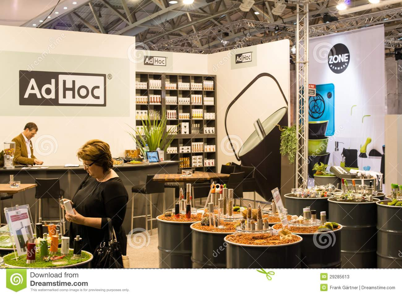 Ad hoc on ambiente exhibition in franfkurt editorial stock - Ad hoc interiorismo ...