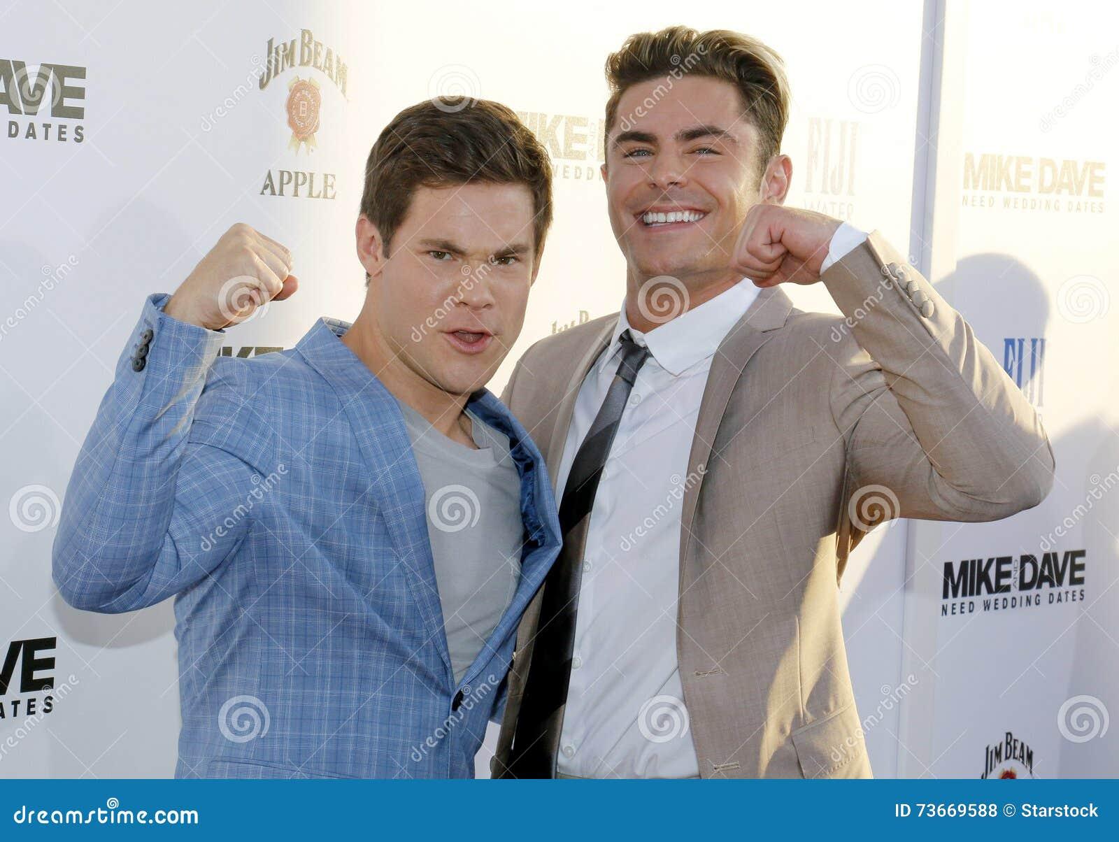 Adam Devine And Zac Efron Editorial Stock Photo Image Of Success