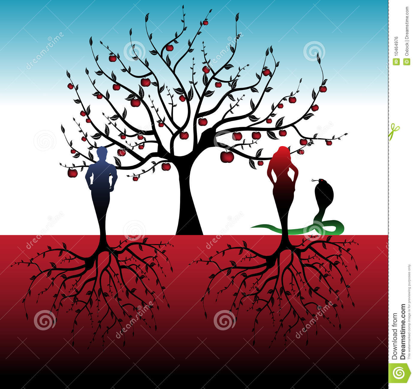 adam and eve royalty free stock image image 10464976