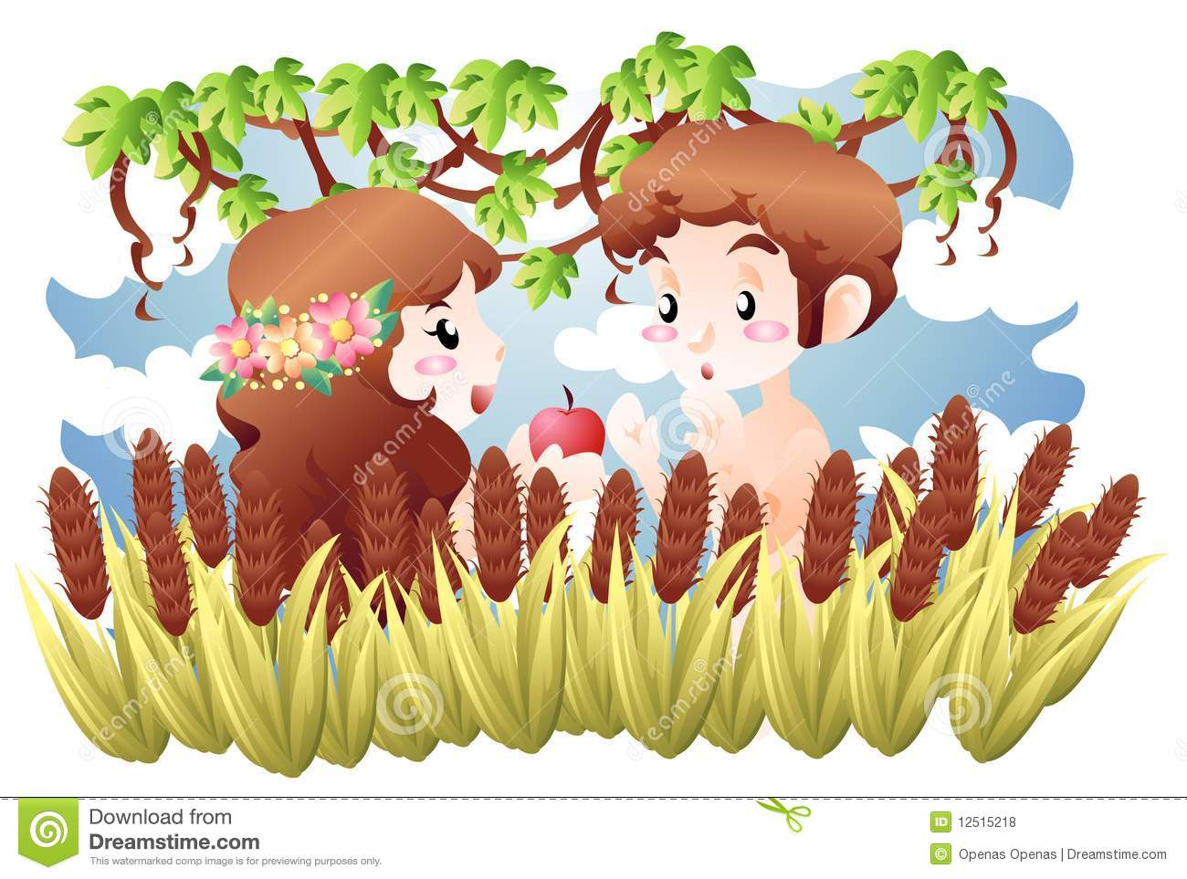 adam and eve royalty free stock photos image 12515218