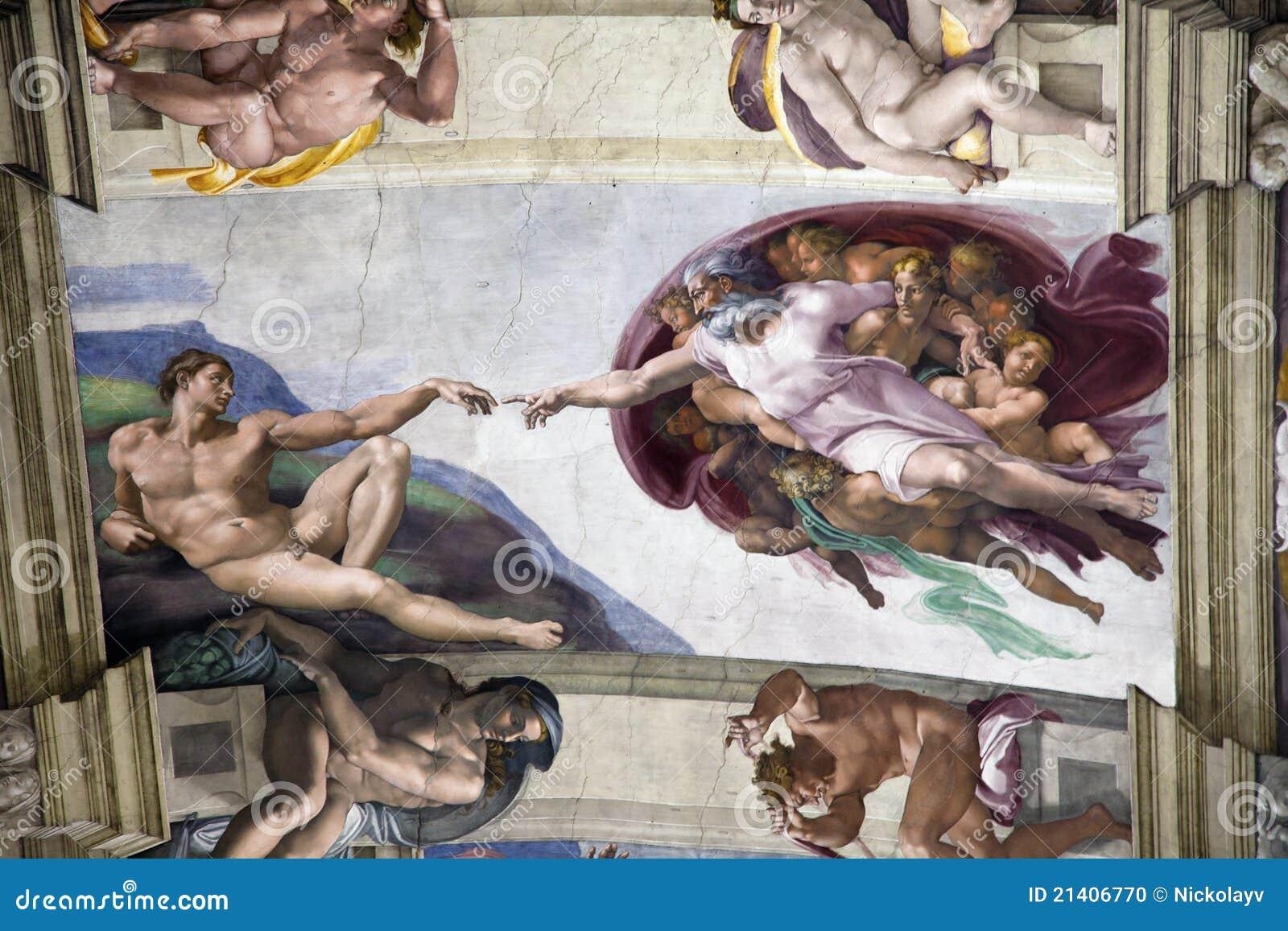 Adam kaplicy tworzenia sistine