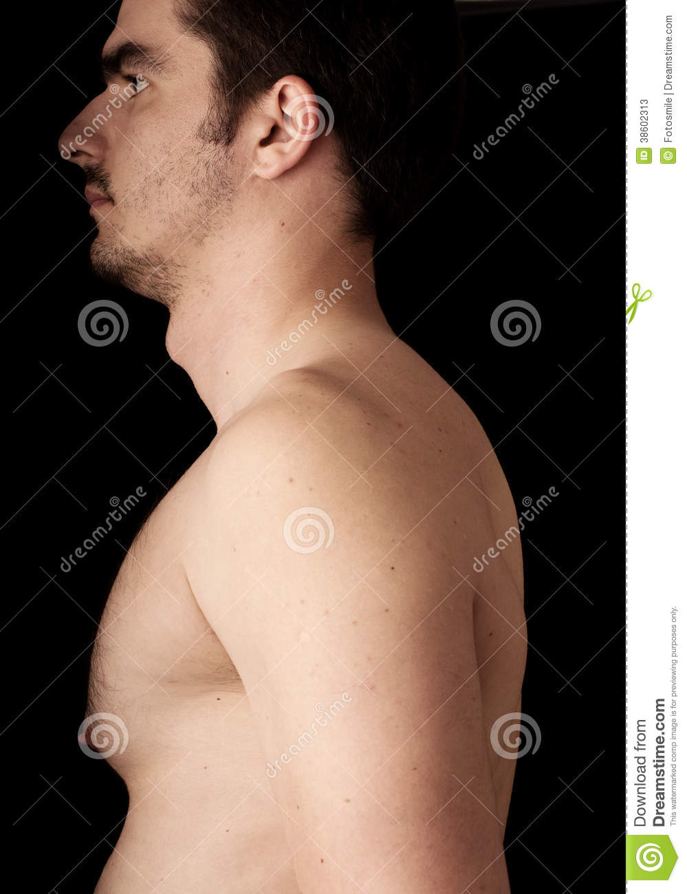Adams Apple Stock Image Image Of Young Chest Black 38602313