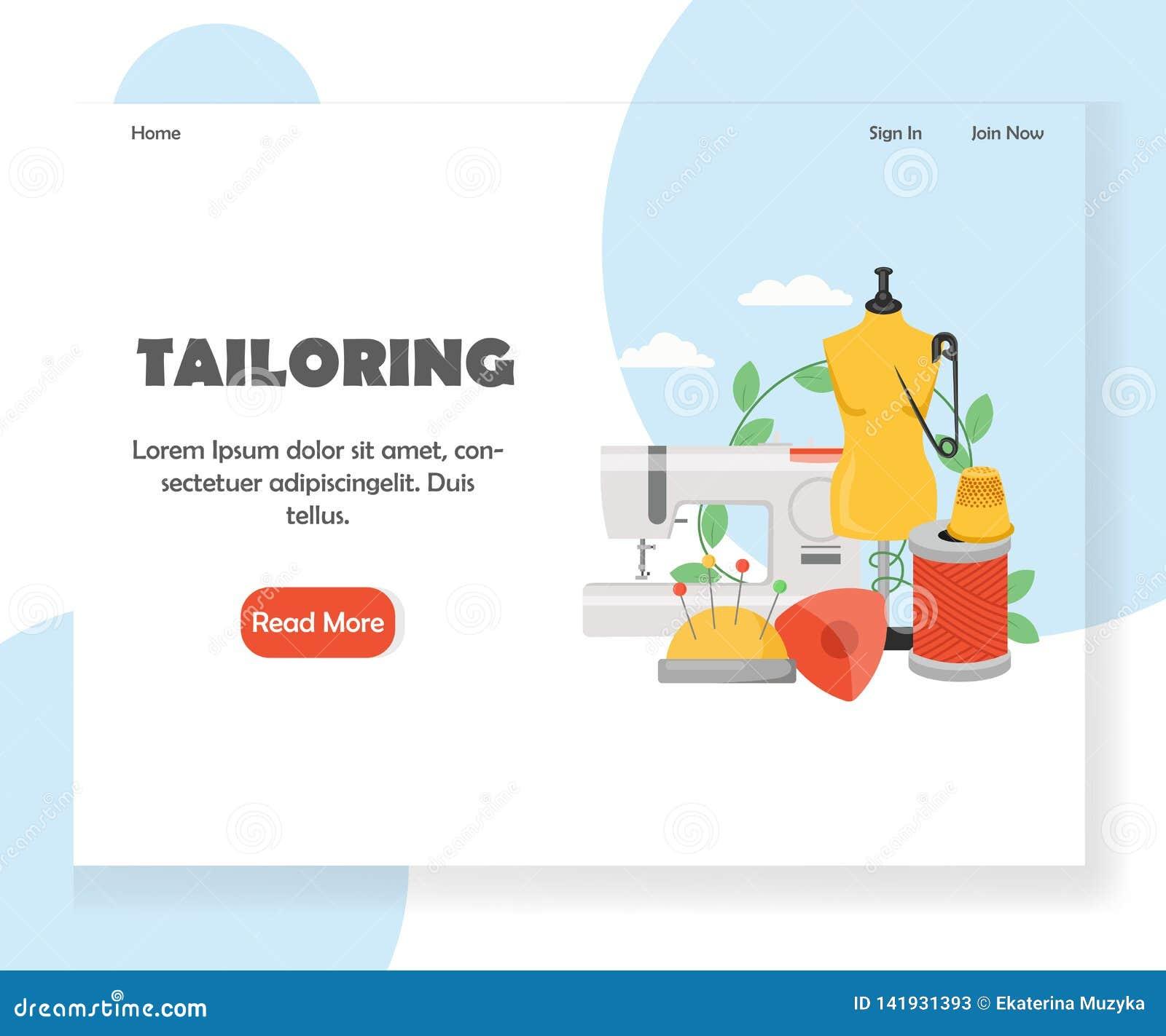Adaptación de la plantilla del diseño de la página del aterrizaje de la página web del vector