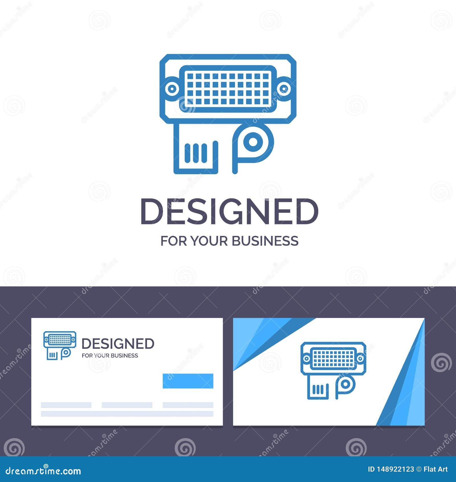 Adaptateur de visite de calibre créatif de carte de visite professionnelle et de logo, connexion, données, illustration de vecteu