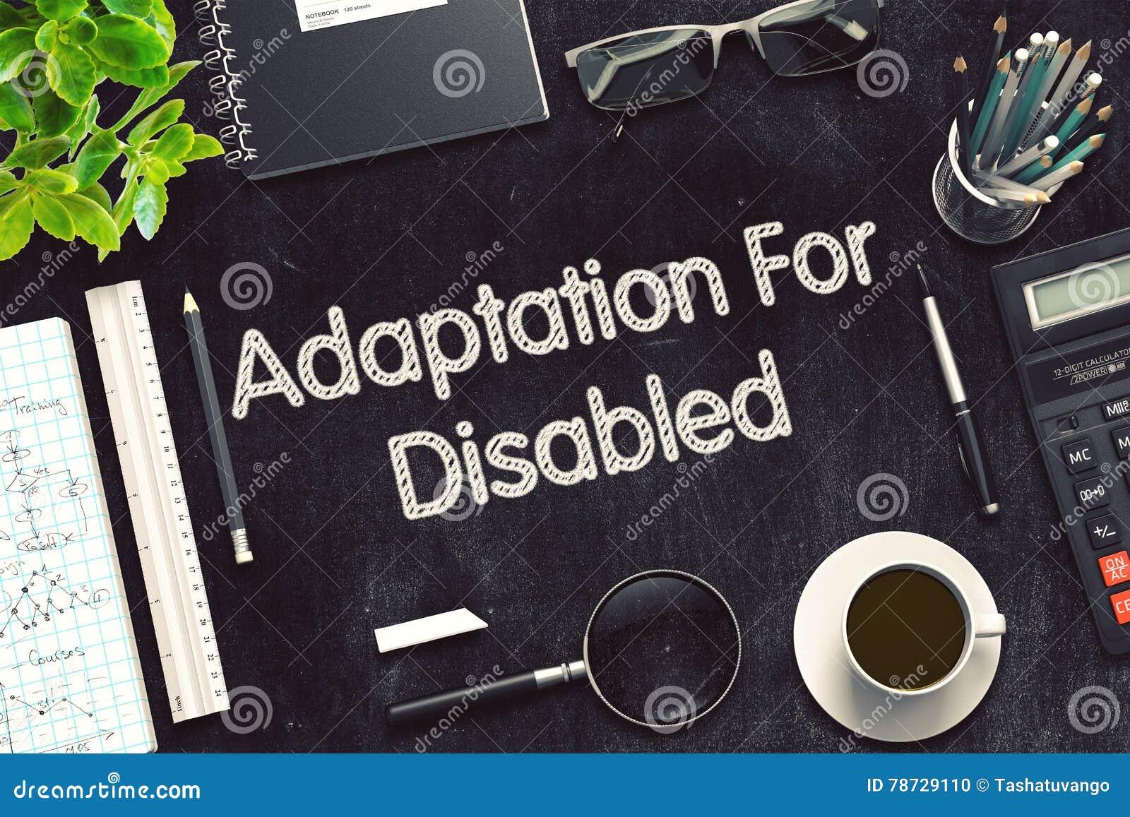 Adaptation pour handicapé sur le tableau noir rendu 3d