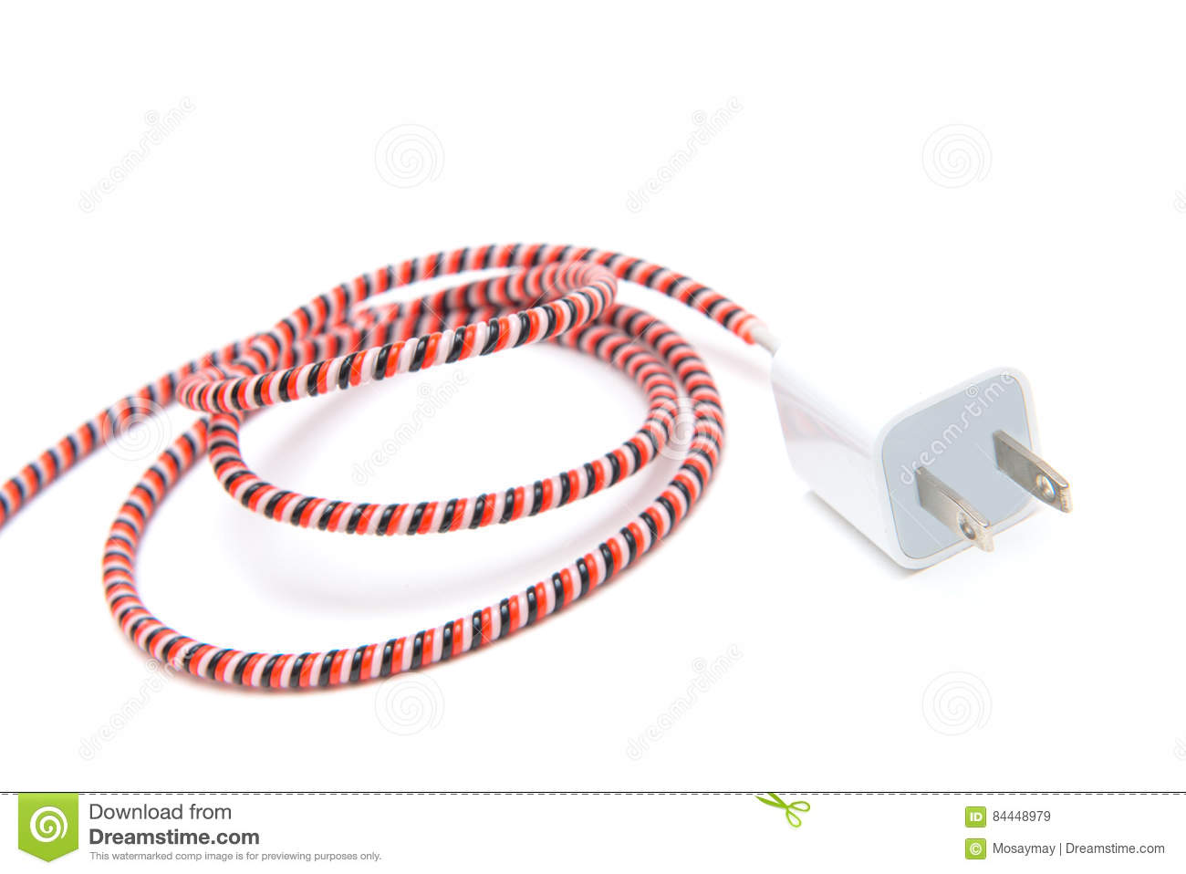White Adapter Charger On White Stock Image Cartoondealer
