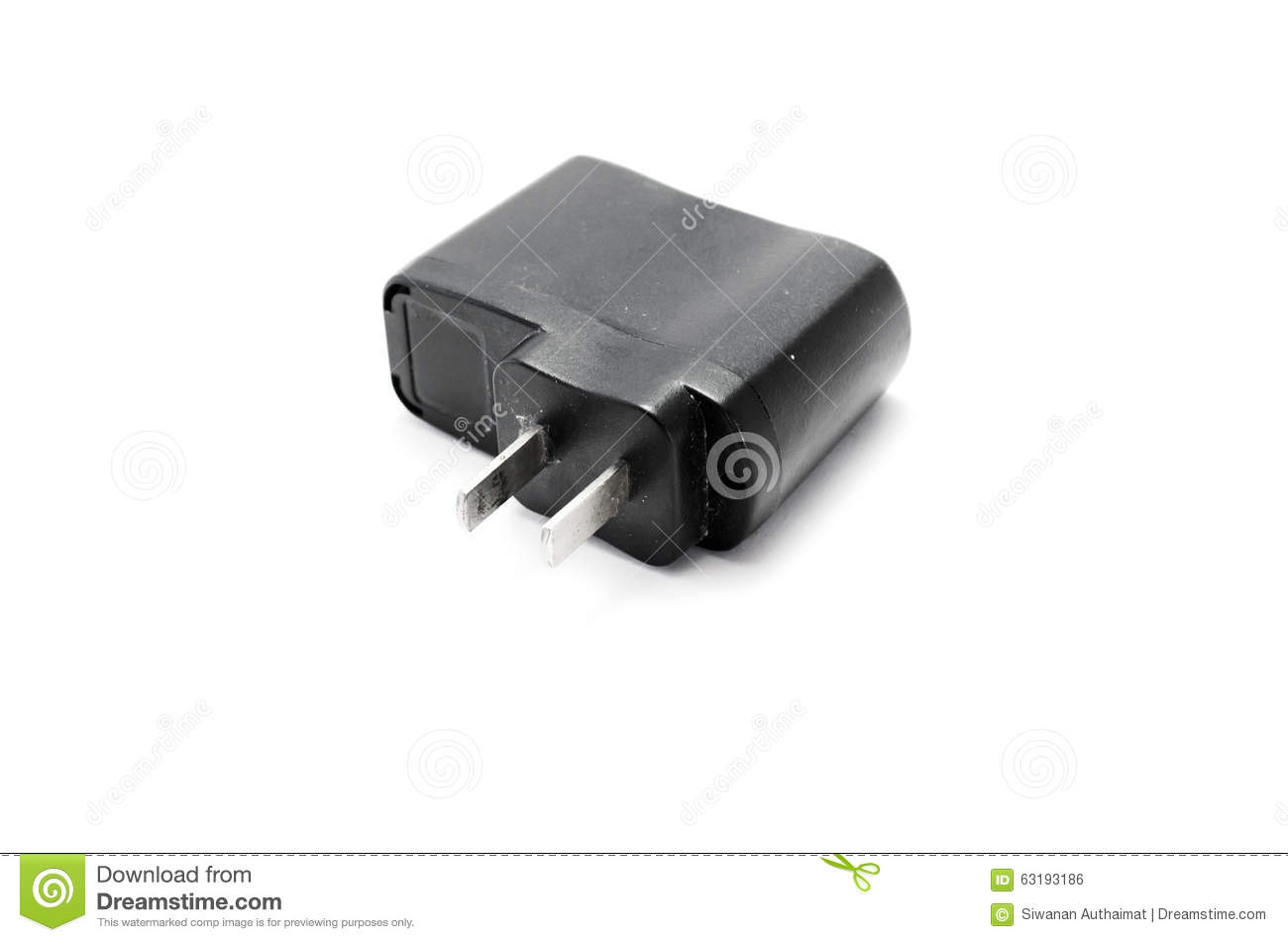 Adapter isolate and white background