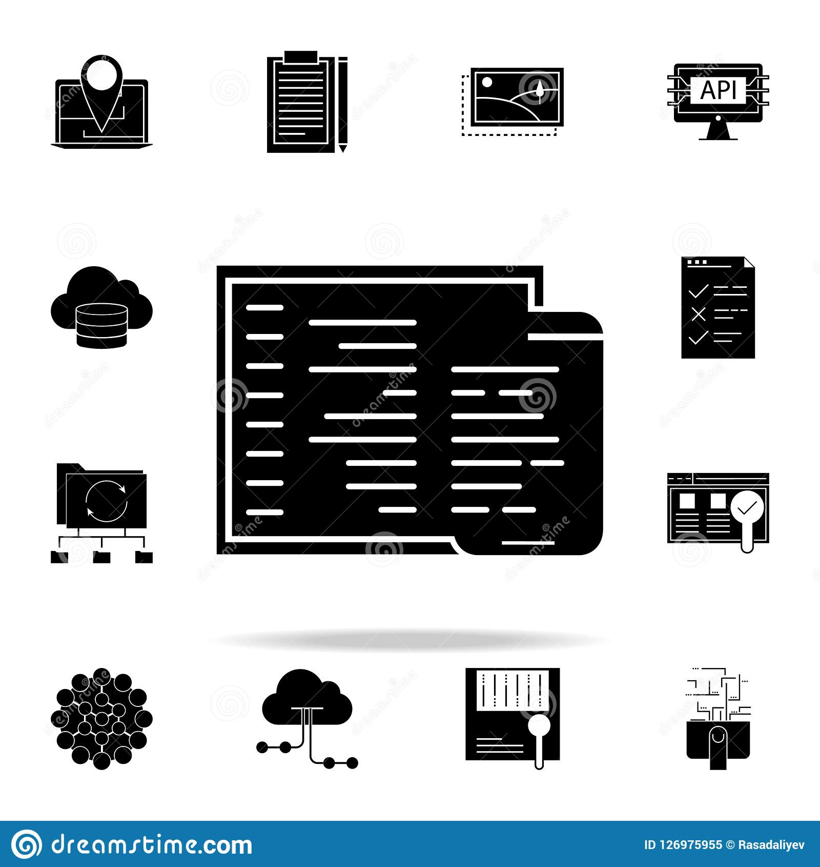 adaptive coding icon. Web Development icons universal set for web and mobile