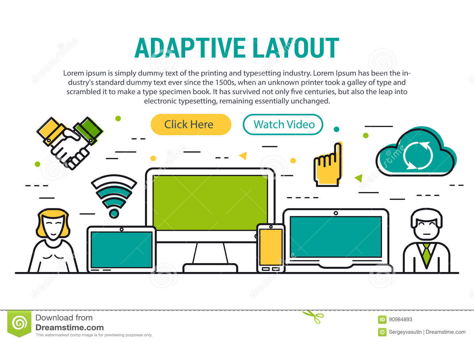 ADAPTIVE LAYOUT - rectangular site header