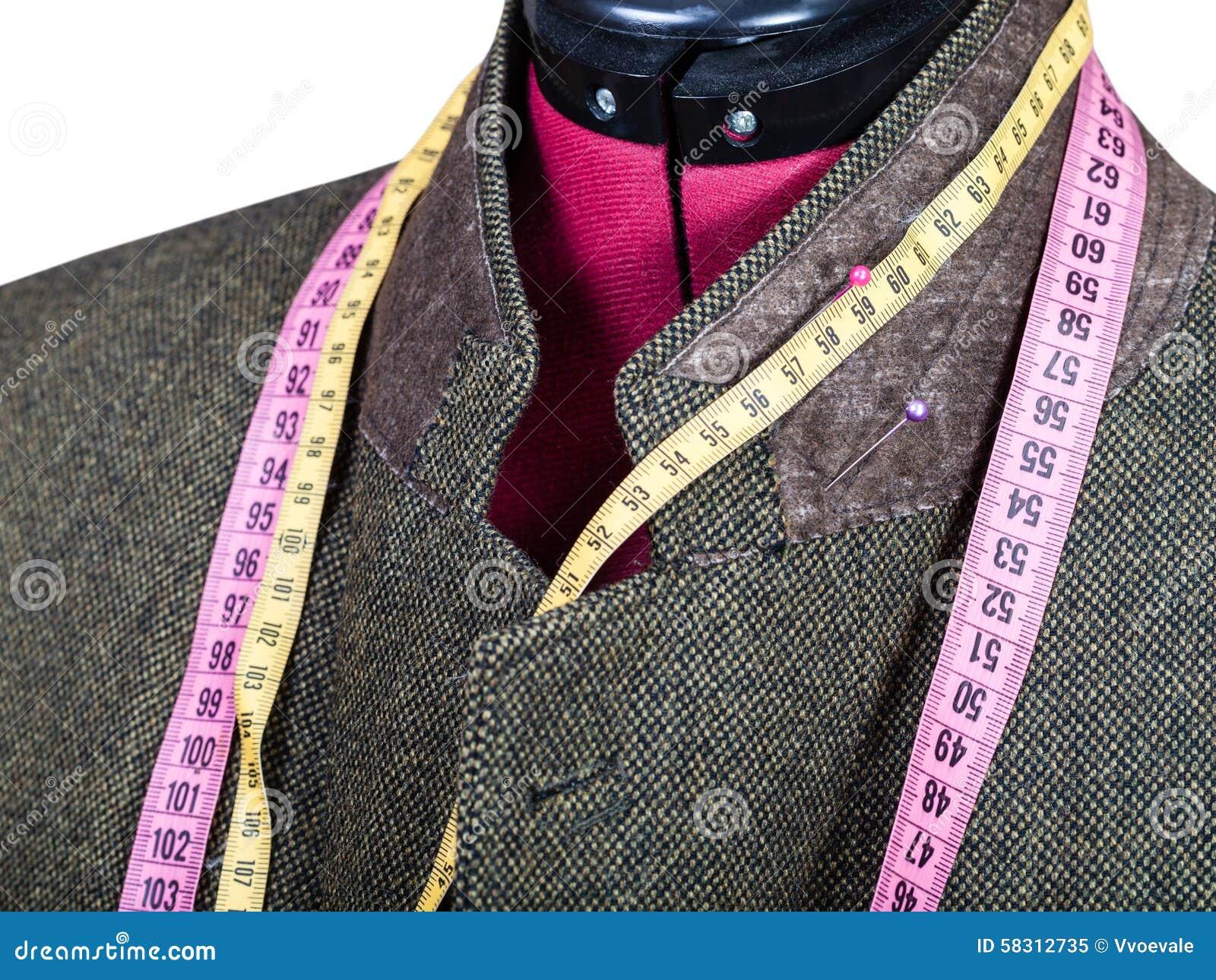 Adattamento del collare per il rivestimento di tweed sudel manichino