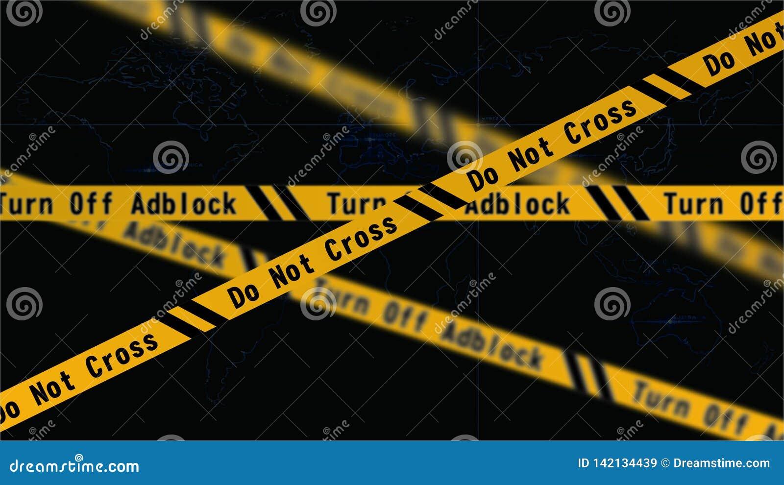 Adblockvoorzichtigheid | Kruis niet