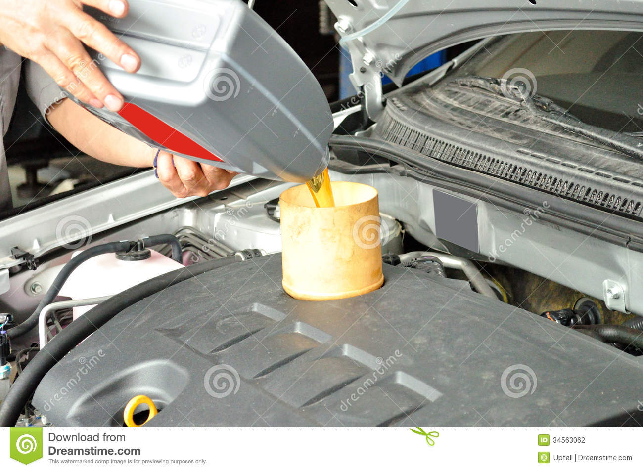 add engine oil of car stock photography image 34563062 On how to add motor oil to car