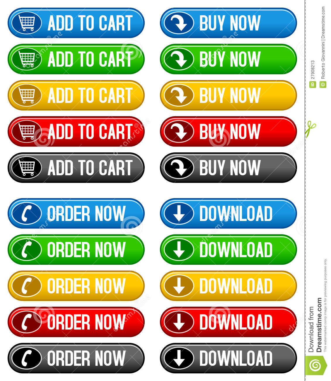 Buy It Now: Add To Cart Buy Now Buttons Stock Vector