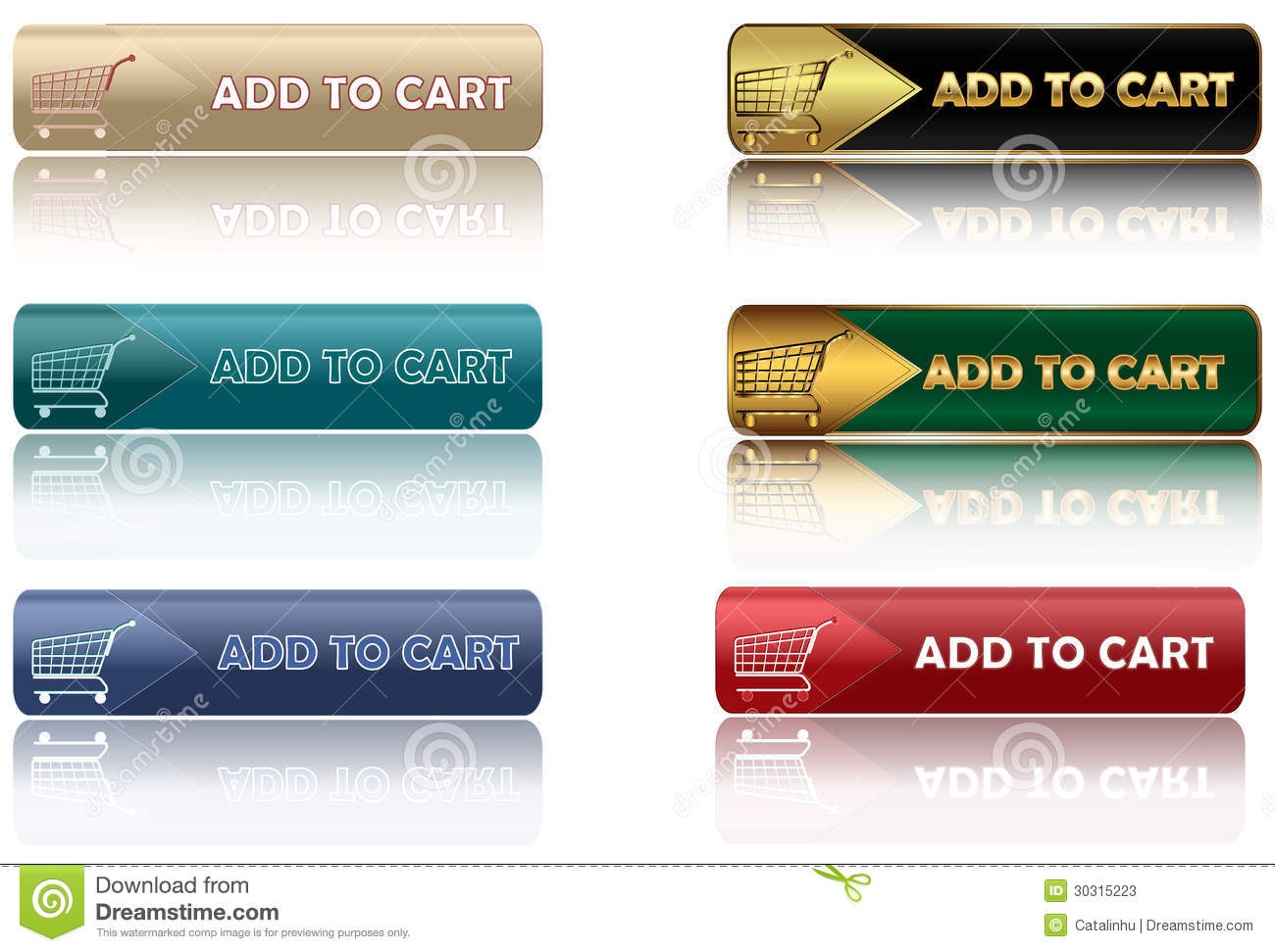 Add to cart - set of web buttons