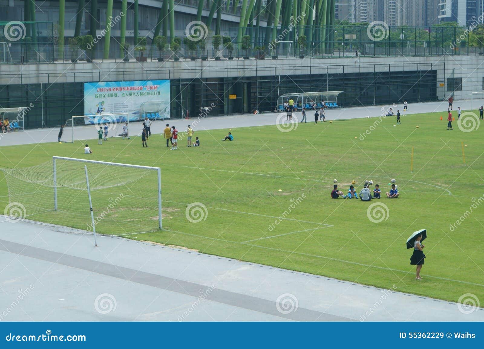 Addestramento cinese del calcio dei bambini