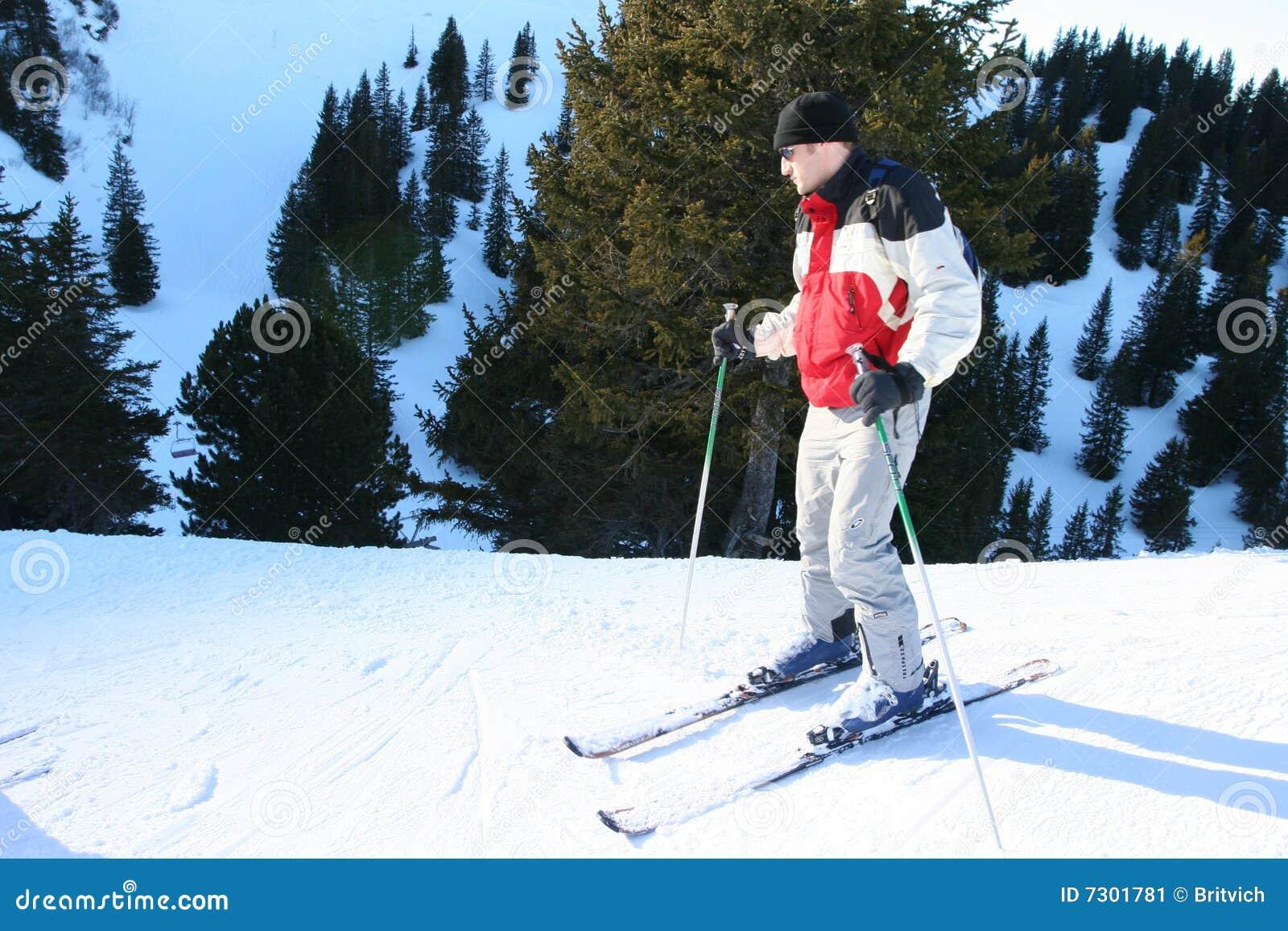 Addestramento di corsa con gli sci