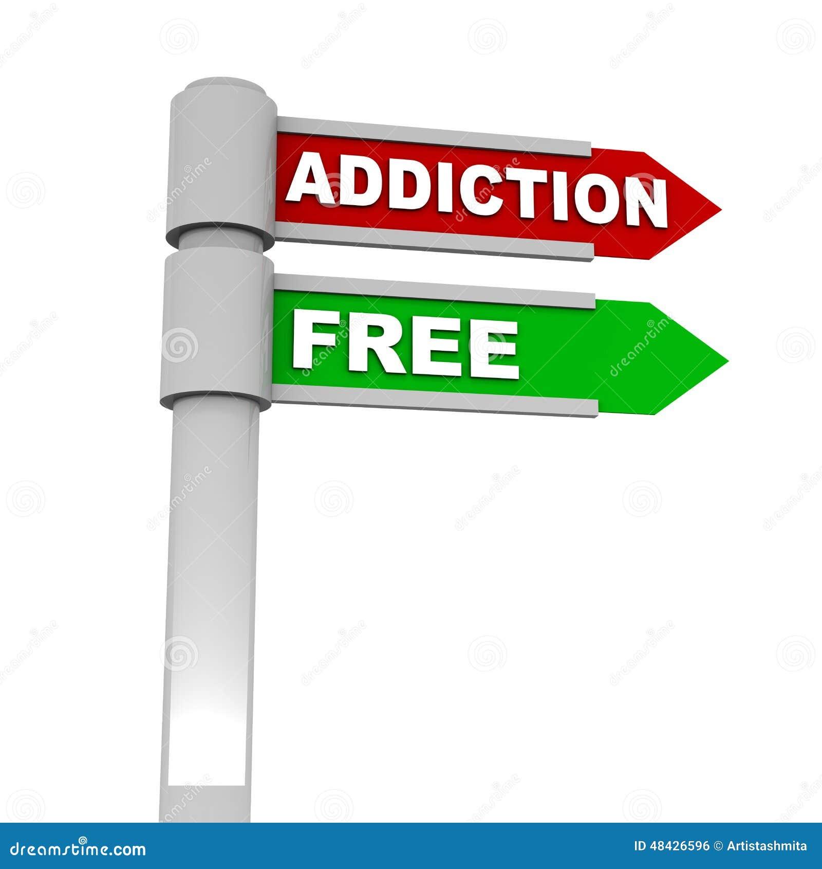 Addiction free stock illustration  Illustration of label