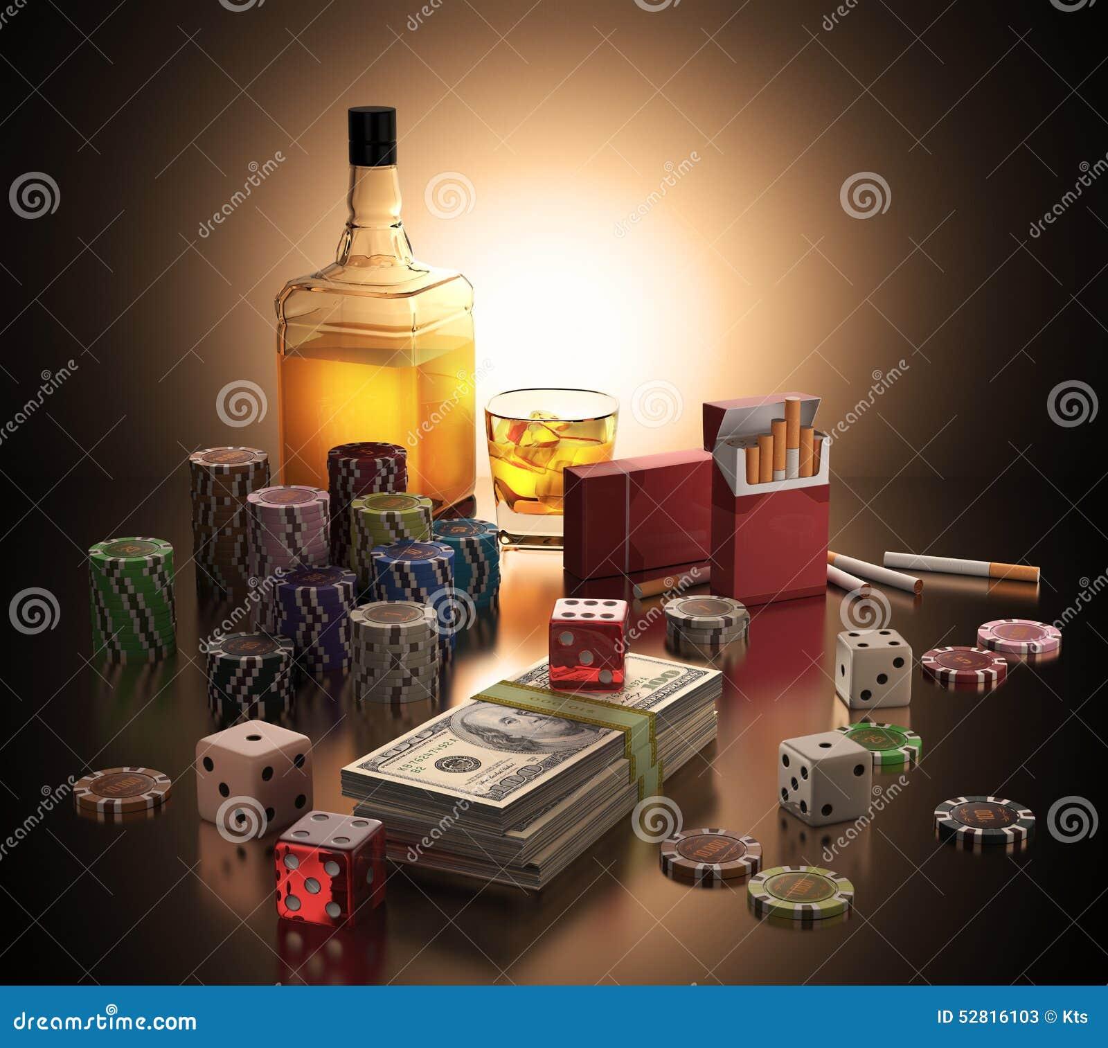 Gambling smoking addiction