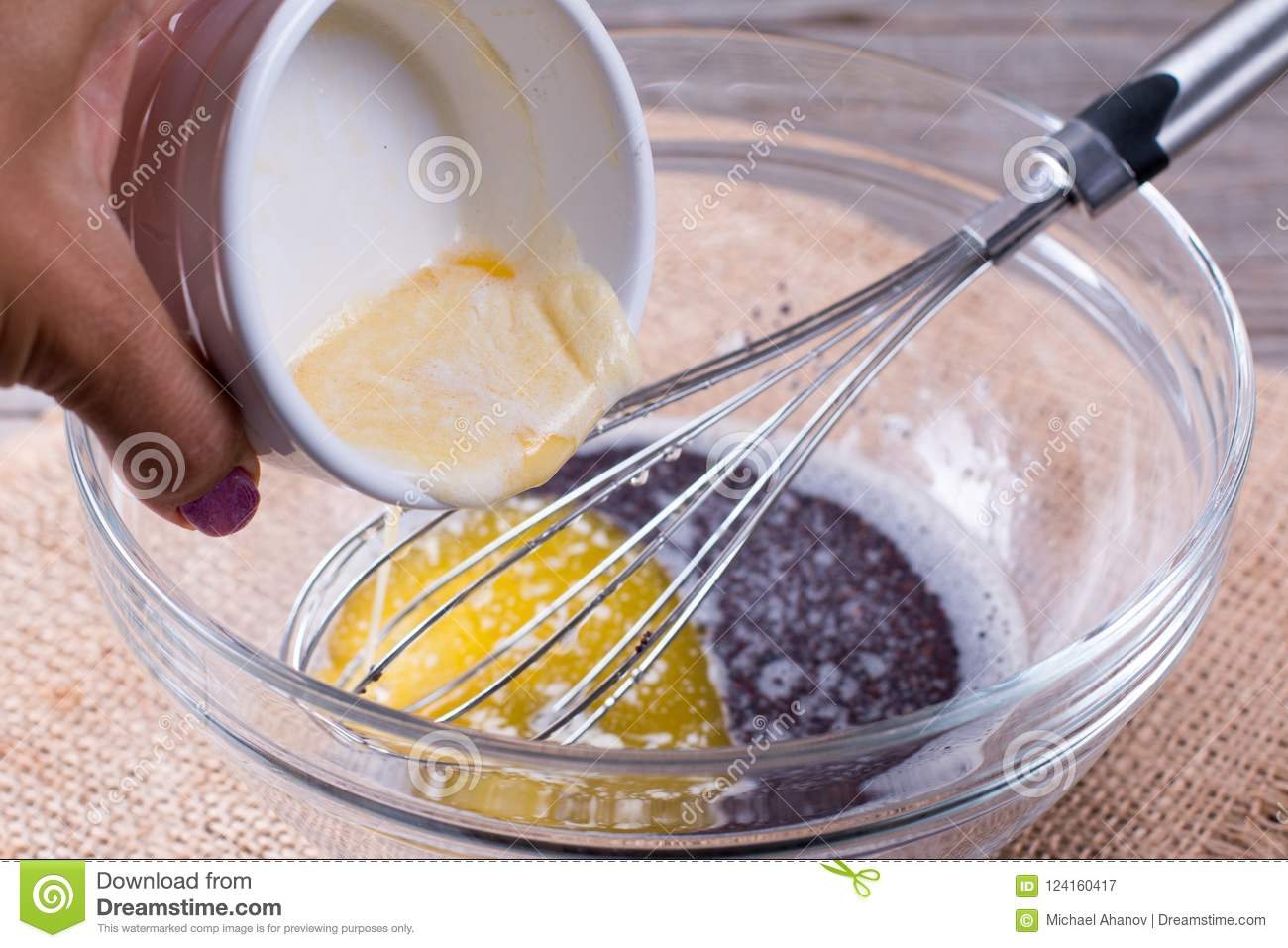 Adding Melted Butter To Cake Mix