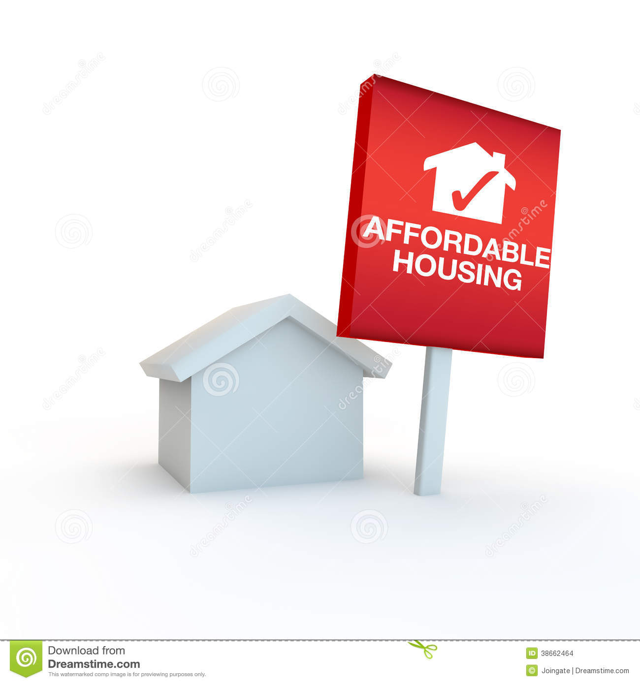Addordable housing 3d icon render on white stock images image 38662464 - Affordable social housing ...