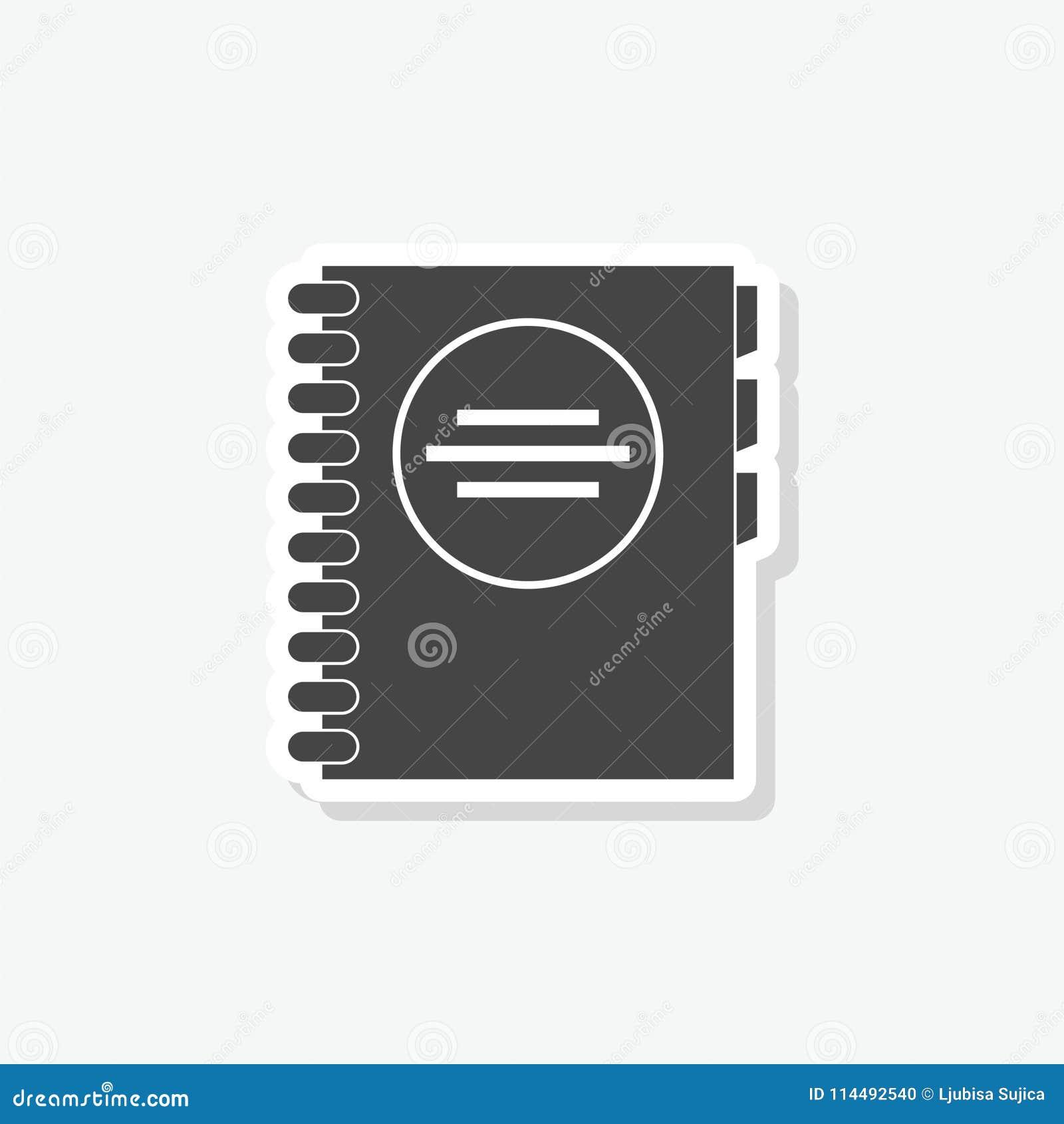 address book sticker simple vector icon stock vector illustration