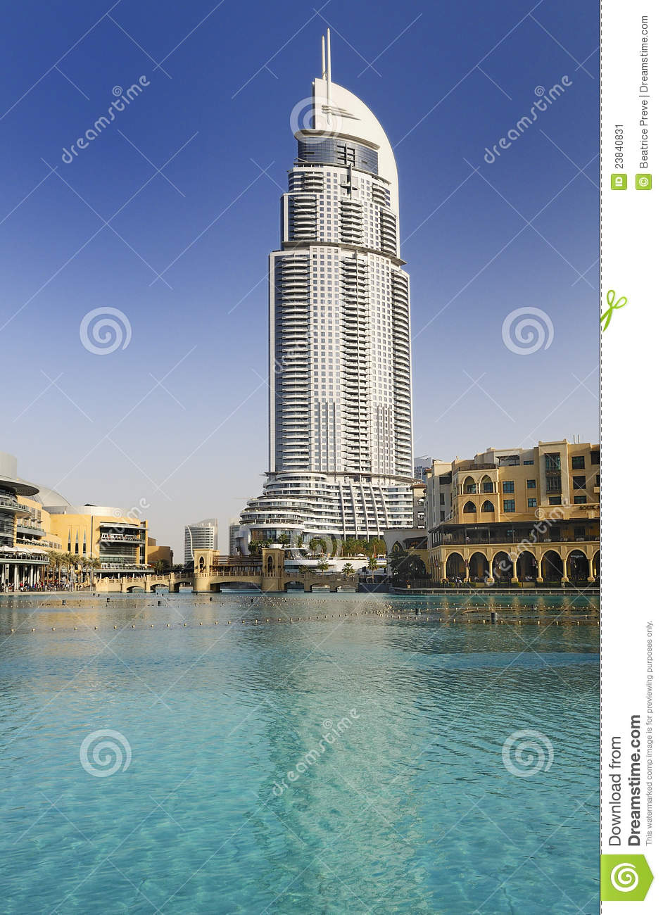 Address hotel in the downtown dubai stock image image for Address hotel dubai