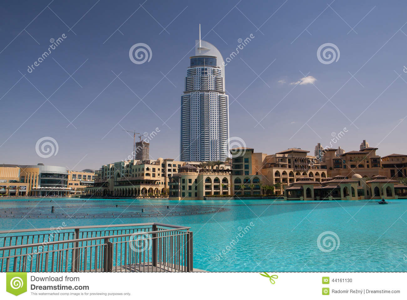 The address hotel in the downtown dubai editorial image for Hotel dubai famous