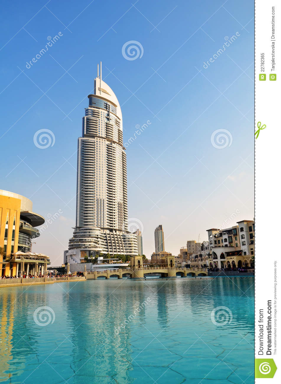 Address hotel and lake burj dubai dubai editorial image for List of hotels in dubai with contact details