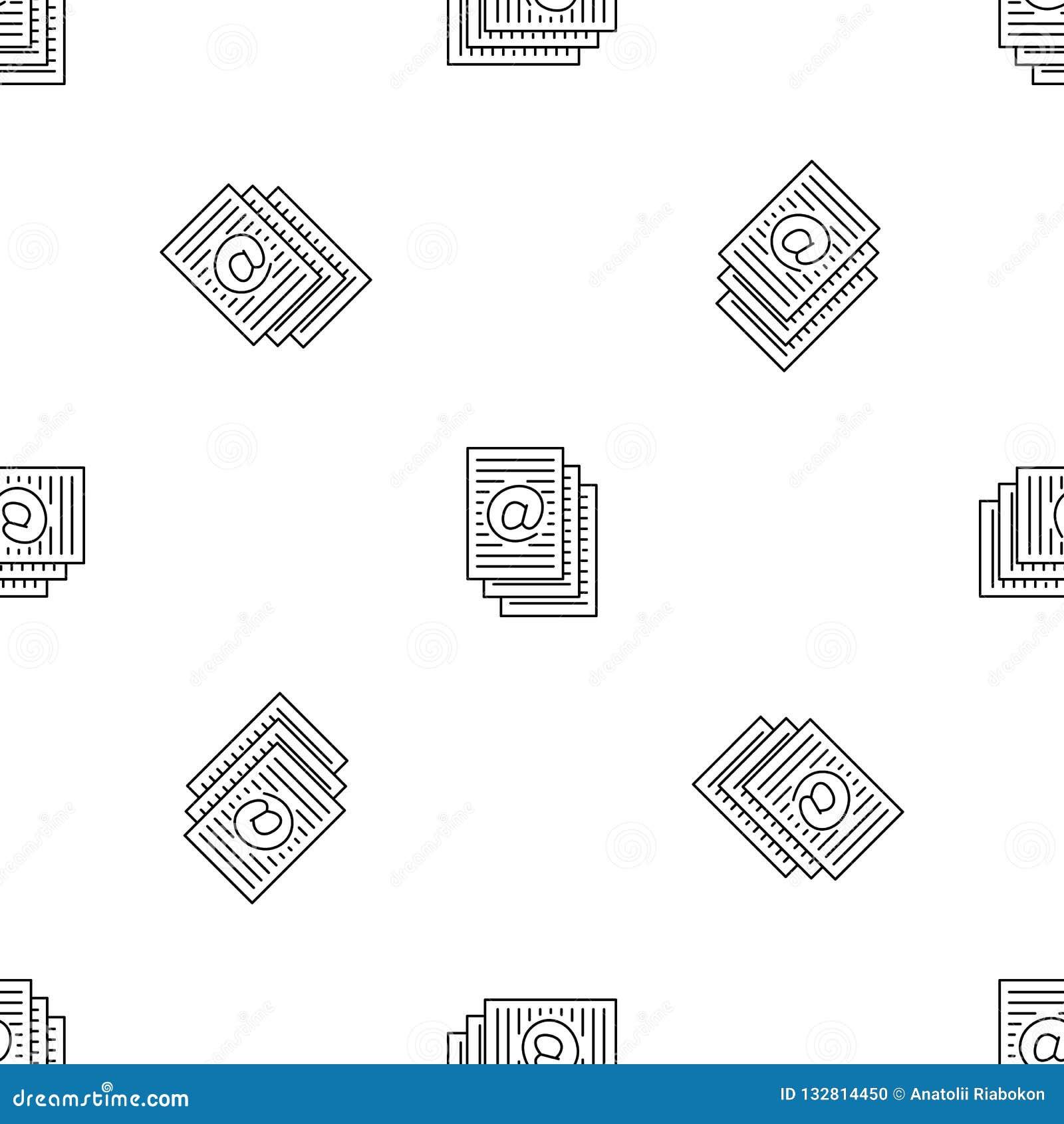 Address sheets pattern seamless vector
