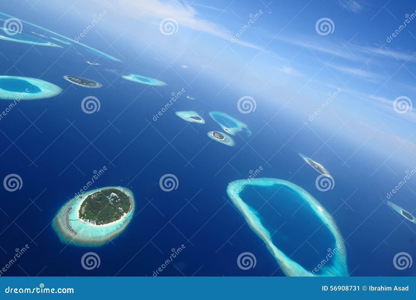 Addu atoll eller Seenu Atoll, söder mest atoll av de Maldiverna öarna