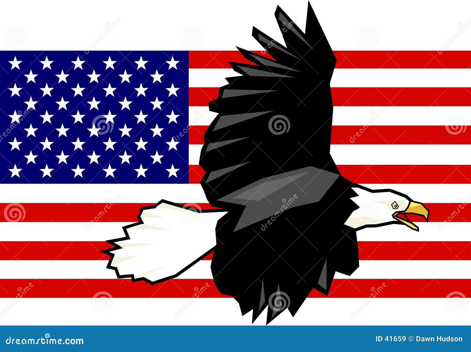 Download Adelaar en Vlag vector illustratie. Illustratie bestaande uit vlaggen - 41659