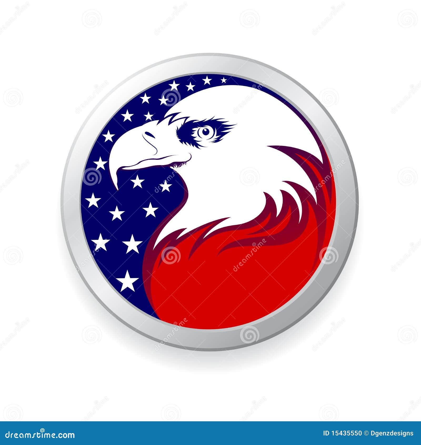 Adelaar met Amerikaanse vlag