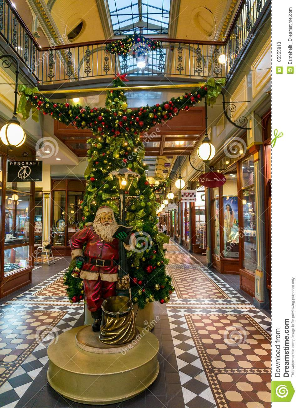 christmas decorations at adelaide arcade - Christmas Decorations Australia