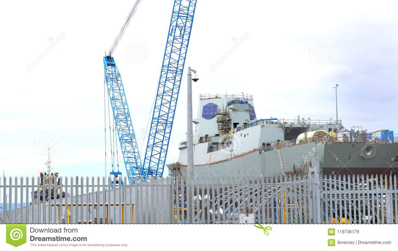 Air Warcraft Destroyer Construction At The ASC, Port