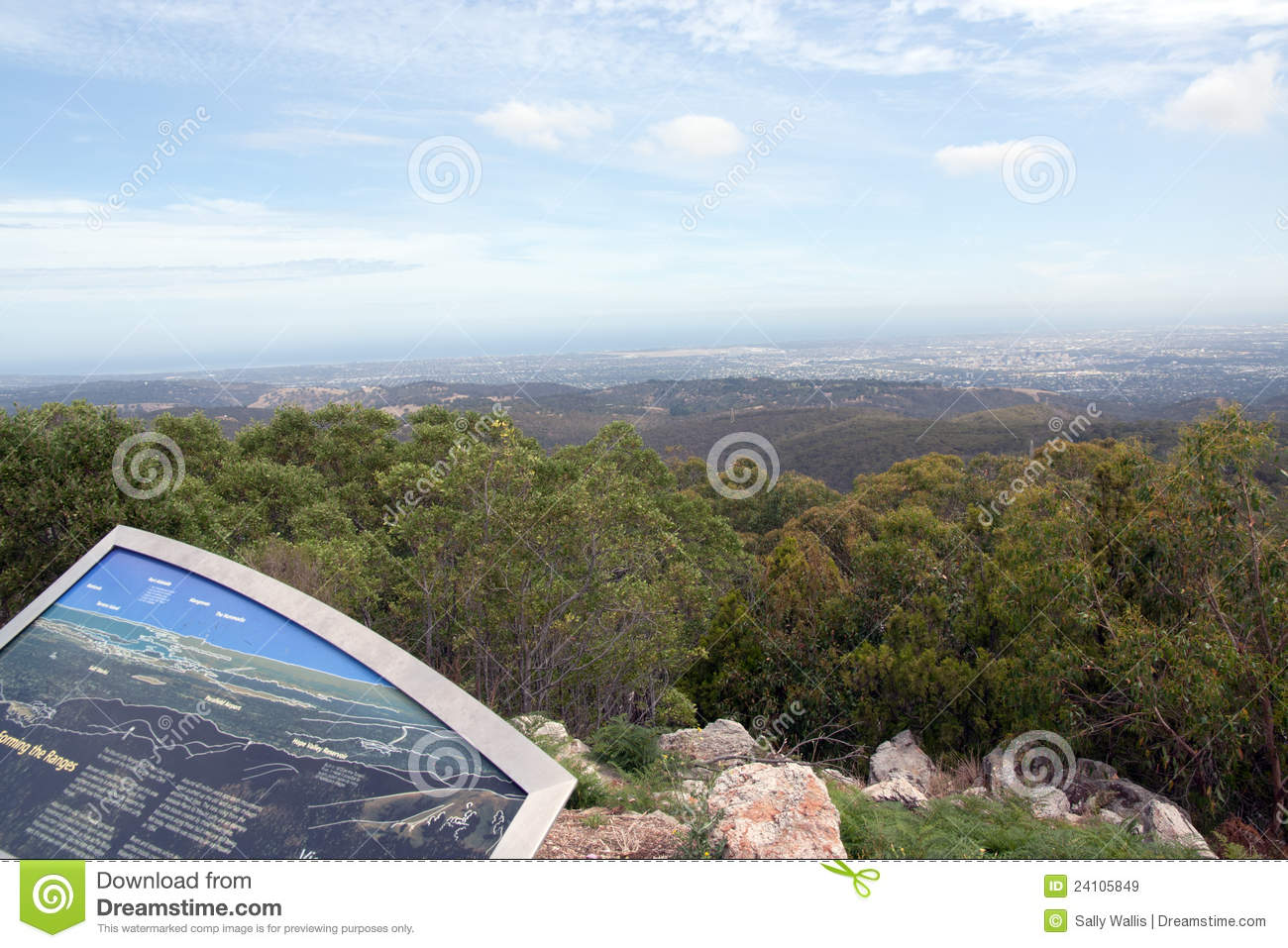 Adelaide South Australia From Mount Lofty Royalty Free