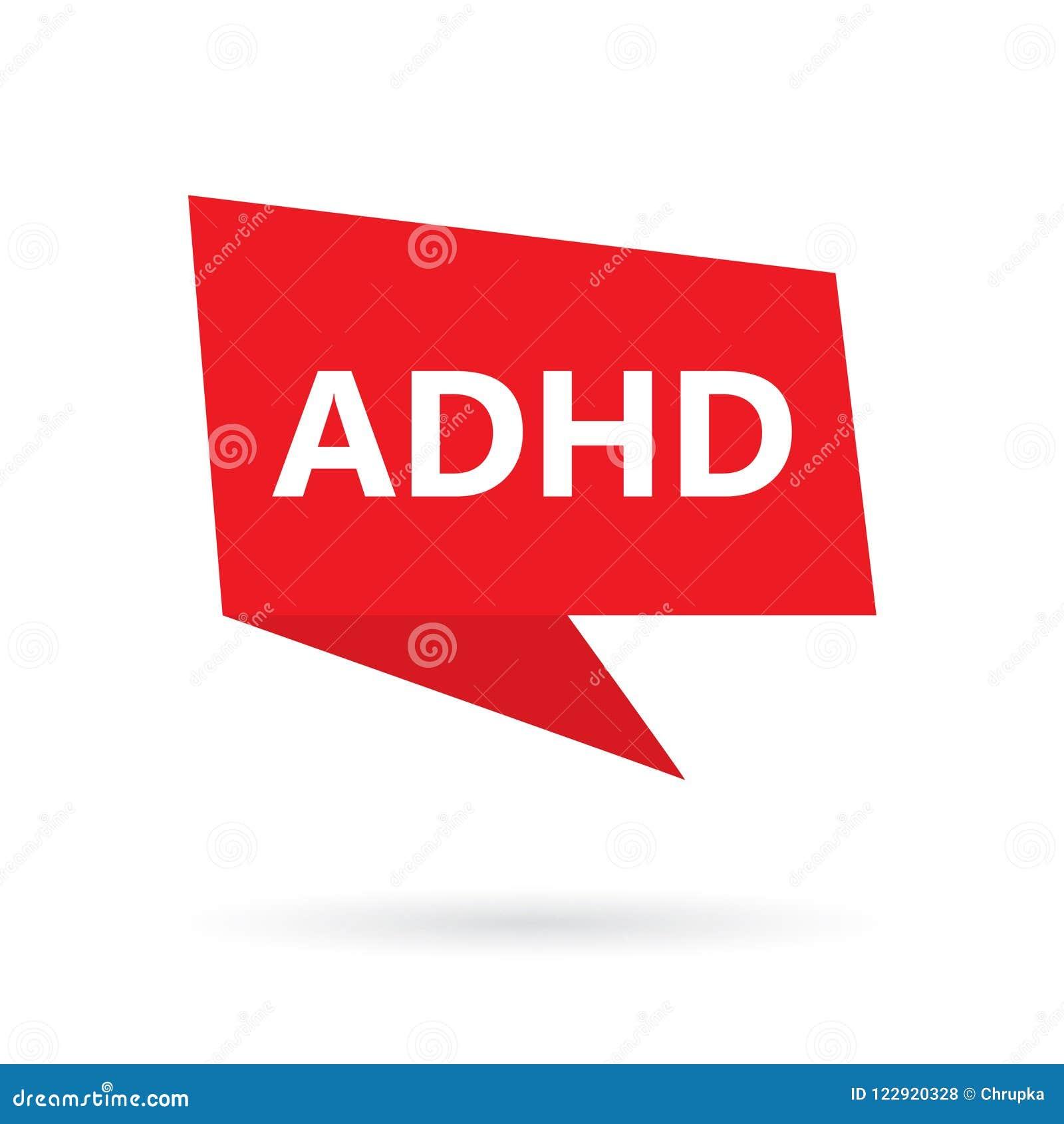 ADHD-Aufmerksamkeits-Defizit-Hyperaktivitäts-Störungswort auf Spracheblase