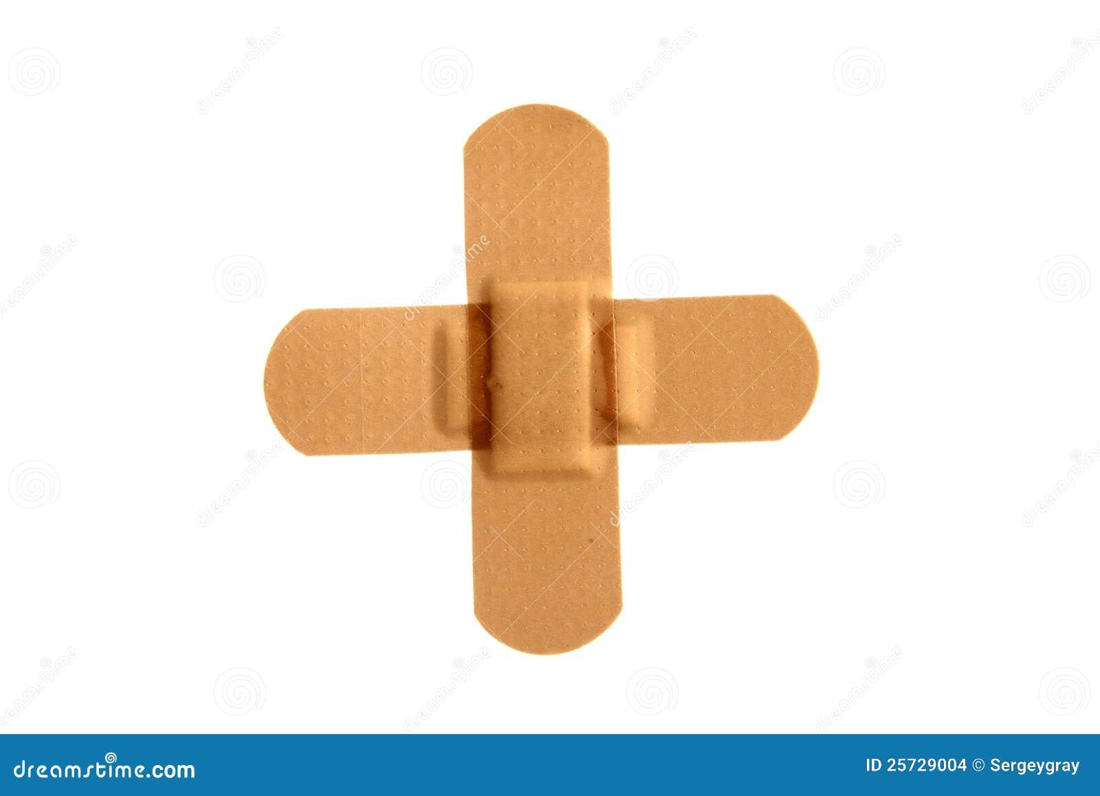 Adhesive bandage on a white background