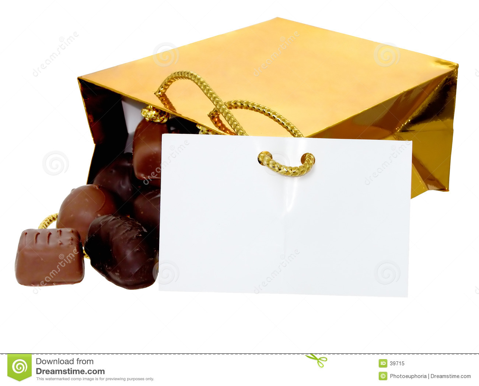 Adicione o texto a este saco dos chocolates