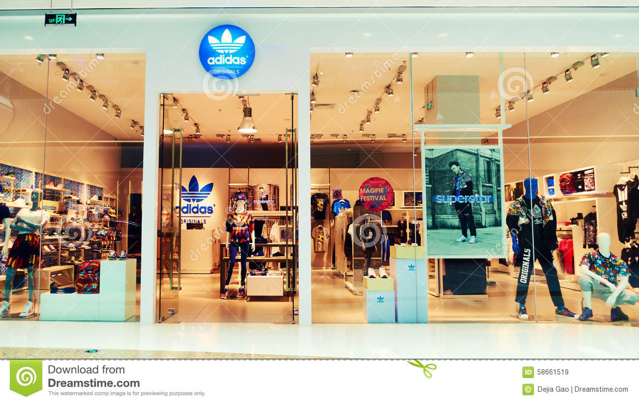 509102a01 Adidas Fashion Store Shop Front Editorial Stock Image - Image of ...