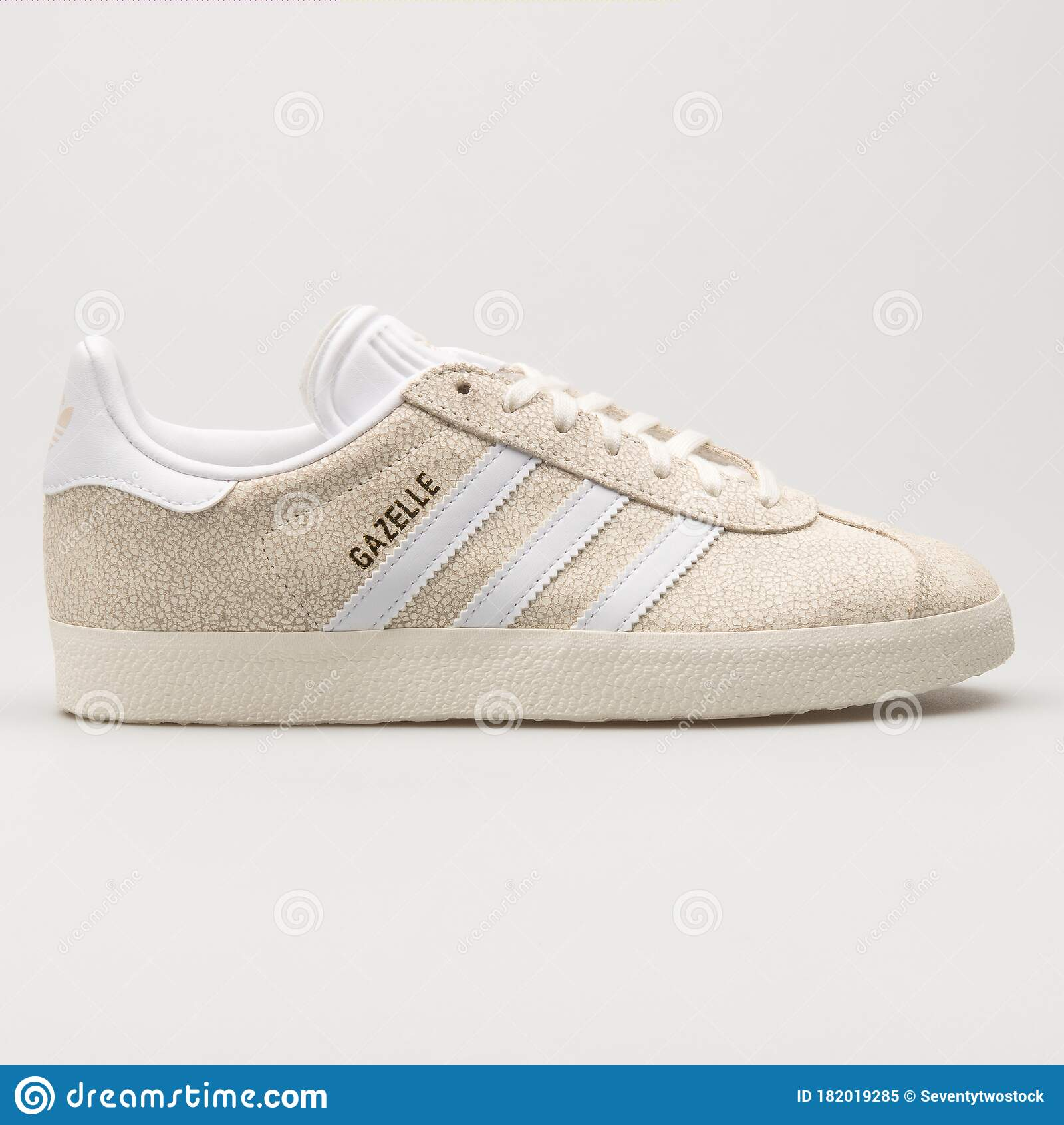 Adidas Gazelle Beige and White Sneaker Editorial Image - Image of ...